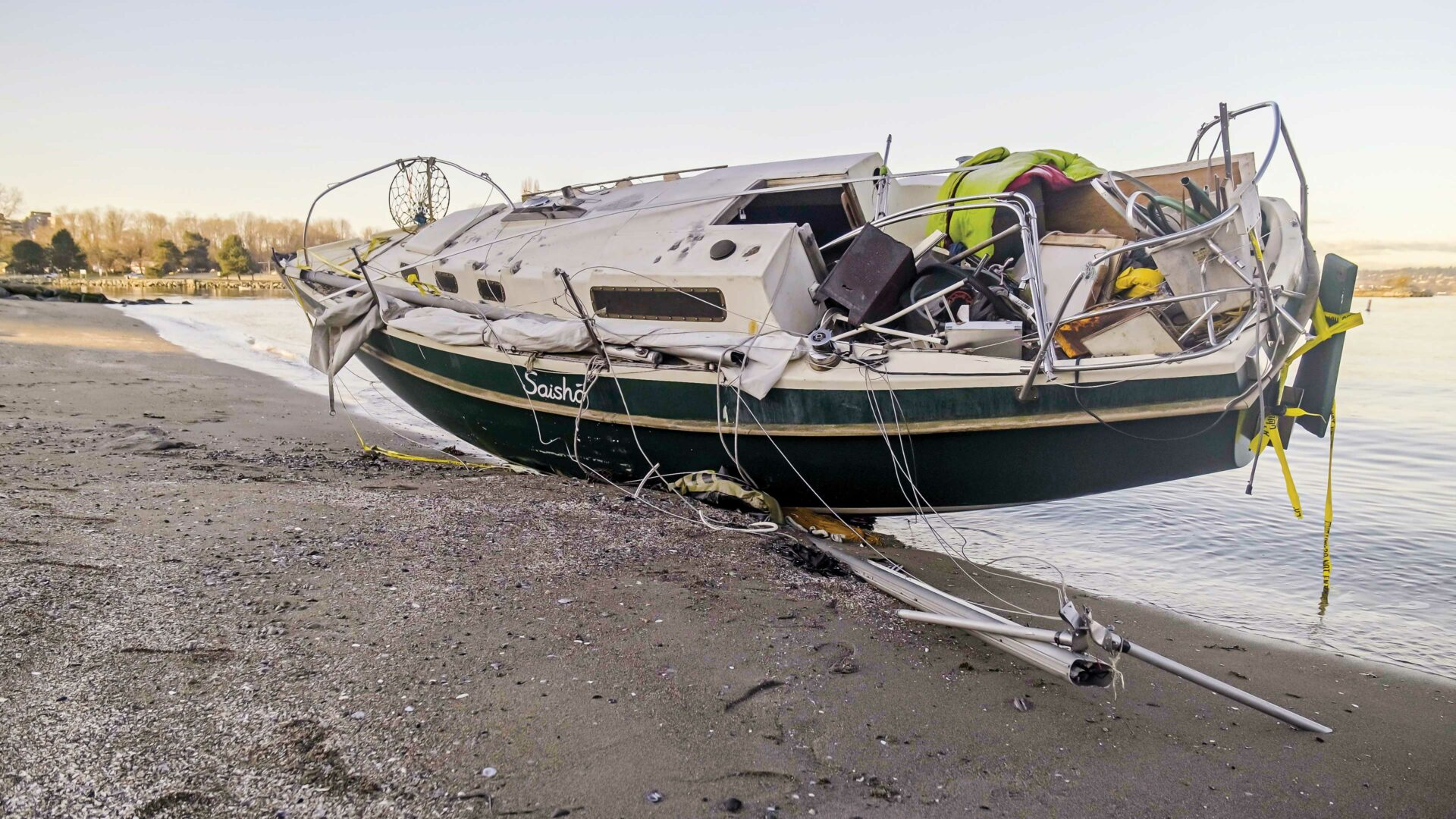 Clearly an eyesore, abandoned and dilapidated vessels can also be a hazard to the environment. Photo by KK Law.